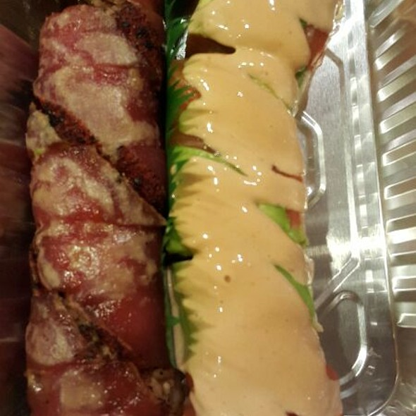 Ultimate Pleasure and Orange Dragon rolls @ SushiO