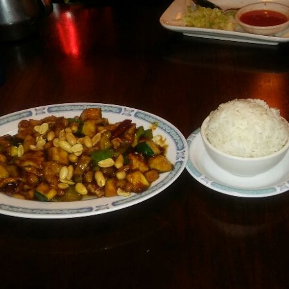 Shanghai Garden - Kung Pao Pork with Steamed Rice - Foodspotting