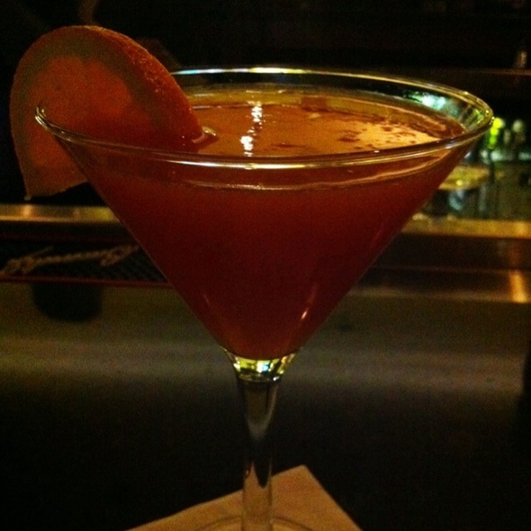 Blood Orange Martini - Exchange Street Bistro, Malden, MA