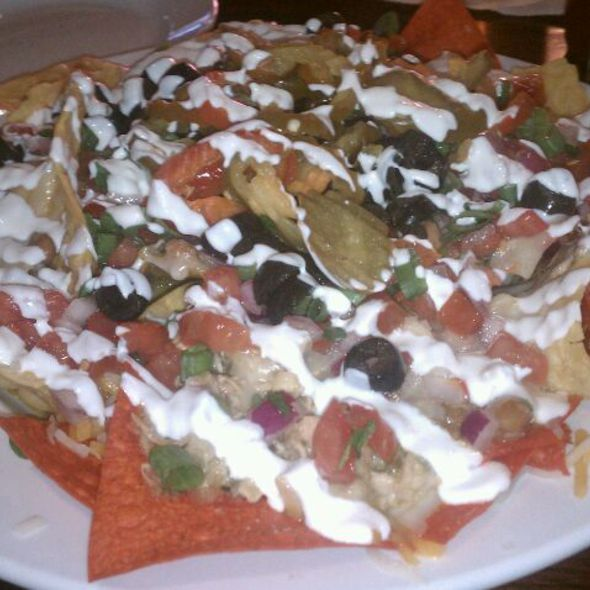 Nachos With Chile Verde Chicken