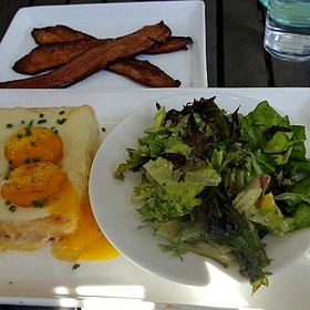 Truffled Black Hog Farms Egg Toast And Pinewood Street Bacon