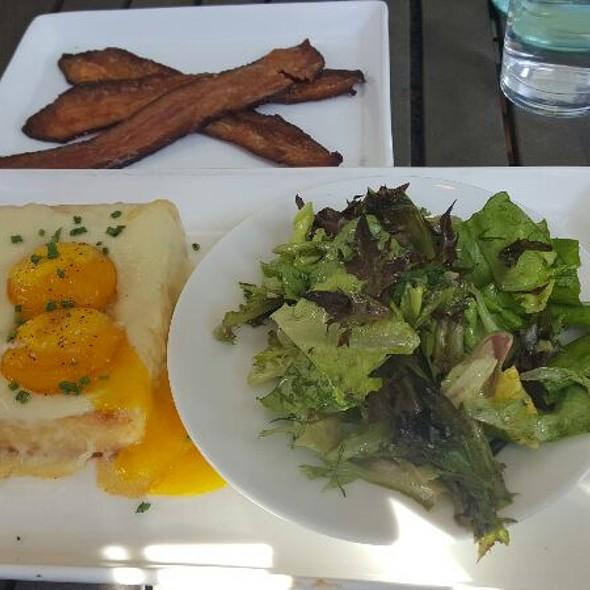 Truffled Black Hog Farms Egg Toast And Pinewood Street Bacon - Black Sheep Restaurant, Jacksonville, FL