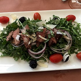 flank steak salad - Muriel's Jackson Square, New Orleans, LA