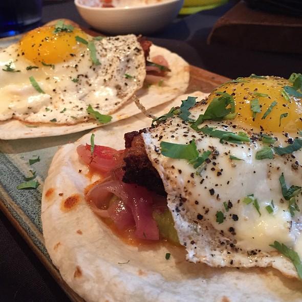 Bacon And Egg Tacos @ Nada Restaurant