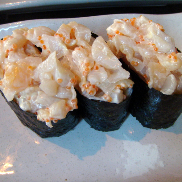 chopped scallop sushi