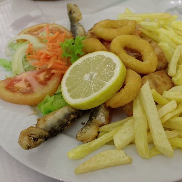 Fried Seafood Platter @ Restaurante Ruca