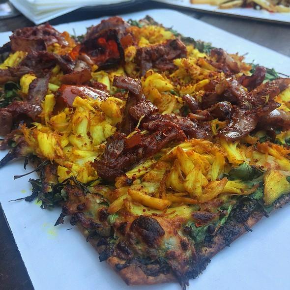 Mediterranean Crab Pizza @ Boheme Cafe and Wine Bar