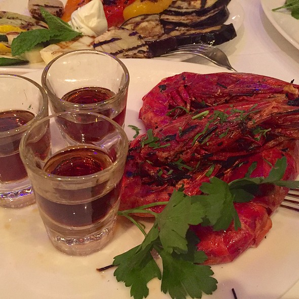 Grilled Prawns And Sherry @ Estiatorio Milos Restaurant