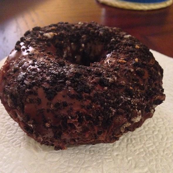 Cookies & Cream Chocolate Cake Donut @ Holtman's Donut Shop