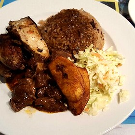 Jerk Chicken With Oxtail - The Real Jerk Restaurant, Toronto, ON