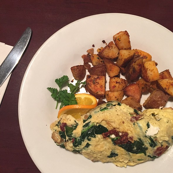 Goat Cheese Spinach Omelette