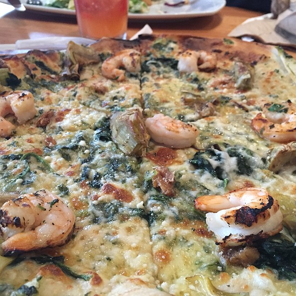 Shrimp And Artichoke Pizza With Roasted Garlic Added @ California Pizza Kitchen