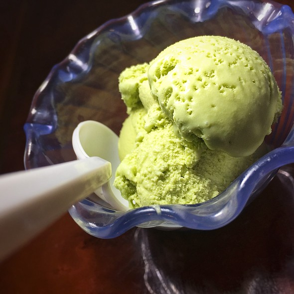 Green Tea Ice Cream @ Koy Wan Hibachi Buffet