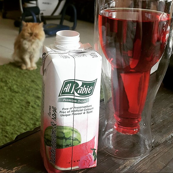 Watermelon And Rose Juice