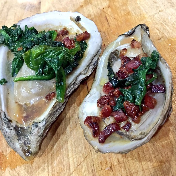 Smoked Oysters With Pancetta And Spinach @ ATLfoodsnob's Home