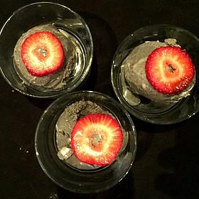 Coconut Ice Cream With Spanish Squid Ink - The Venue Sushi Bar & Sake Lounge, Palm Desert, CA
