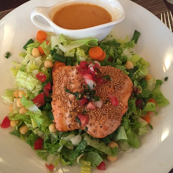 Mustard Seed Crusted Salmon Salad - Bazin's on Church, Vienna, VA