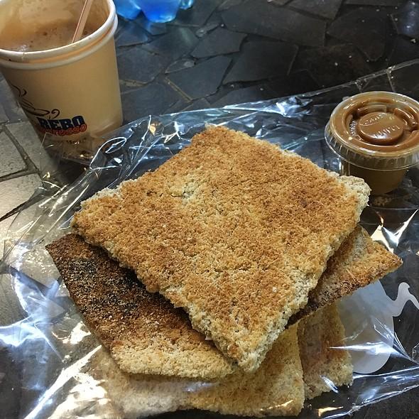 Cassava Cracker With Peanut Butter @ Rebo Espresso