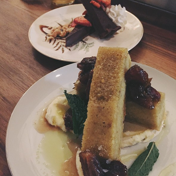 Olive Oil Cake And Chocolate Tart @ Mabel Gray