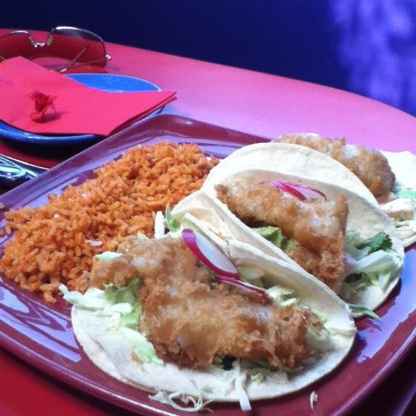 Chicken Tacos With Black Beans And Rice - Lula Cocina, Santa Monica, CA