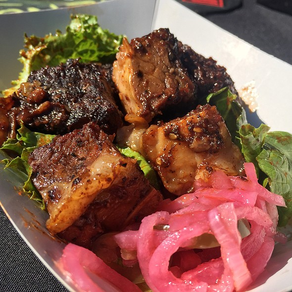 Gochujang Beef Belly Burnt Ends @ Blood Bros BBQ