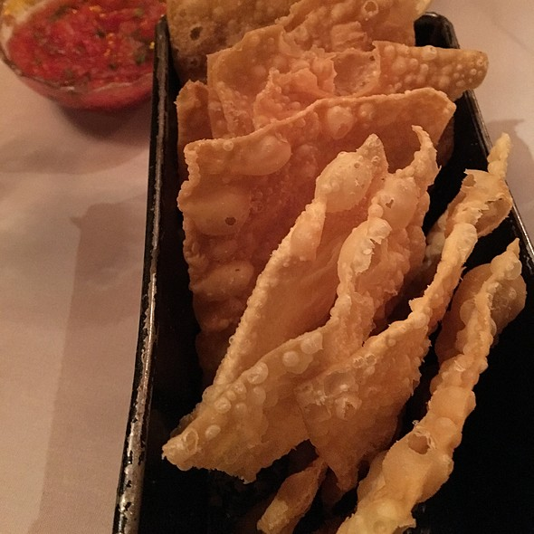 Wontons and Salsa  @ Flying Fish Grill
