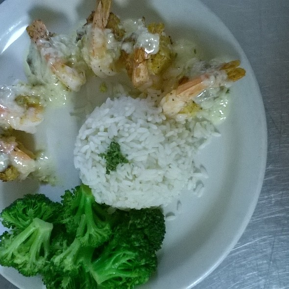 Oven roasted shrimp stuffed with crab