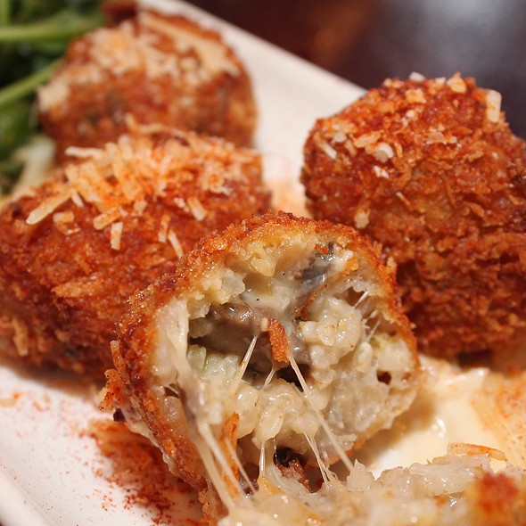 Mushroom Risotto Fritters @ Gordon Biersch Brewery Restaurant