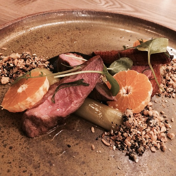 Duck With Leeks, Tangerine, Black Sesame, Cashew @ Otium