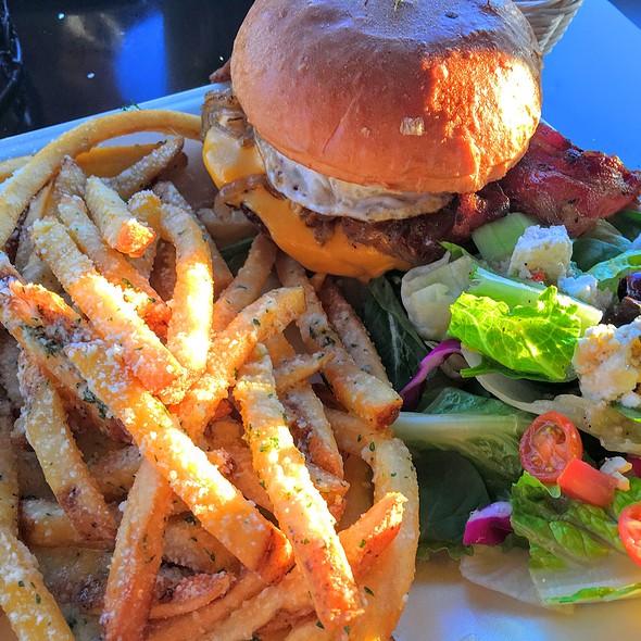 Executive Burger And Parmesan Fries @ Scrambled And Baby Bros