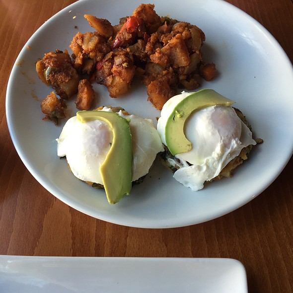 Avocado Eggs Benedict And Vegetable Hash W Sweet Potato