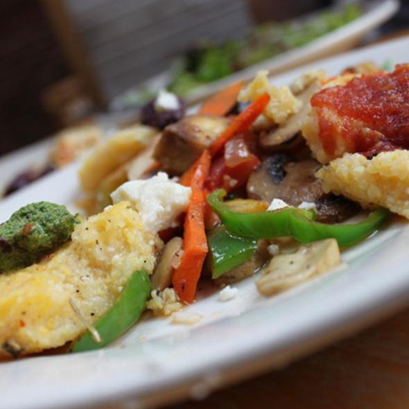 Polenta and veggies - Blue Bird Bistro, Kansas City, MO