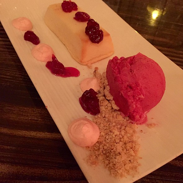 Amaretto Cheesecake & Cherry Sorbet