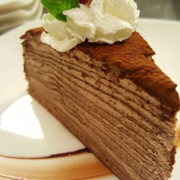 Chocolate Mil Crepe @ Tomo Japanese Restaurant