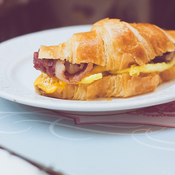 Egg Croissant @ Majestea Tea Room & Shop