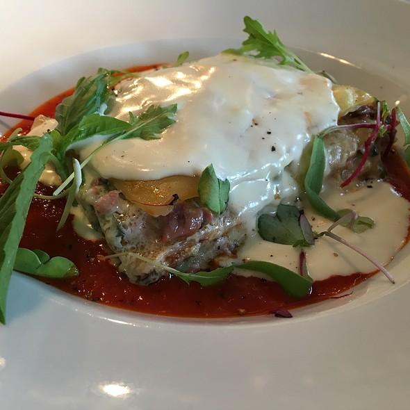 10 Layer Lasagna, Braised Veal & Lamb, Serrano Ham, Mozzarella, Fontina Bechamel, San Marzano Tomato Sauce - TerraSole Ristorante, Ridgefield, CT