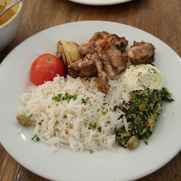 grilled chicken kebabs @ Cafe Mediterranean