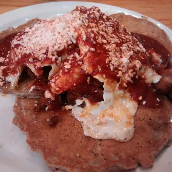 Blue Corn Pancakes With Carnitas @ Pasquale's On Monroe