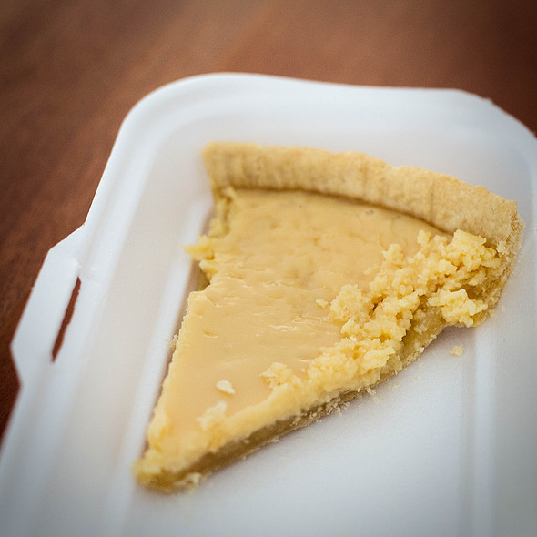 Belizean Lemon Pie @ Streetfood: Belize