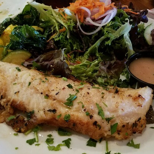 Broiled Flounder And House Salad