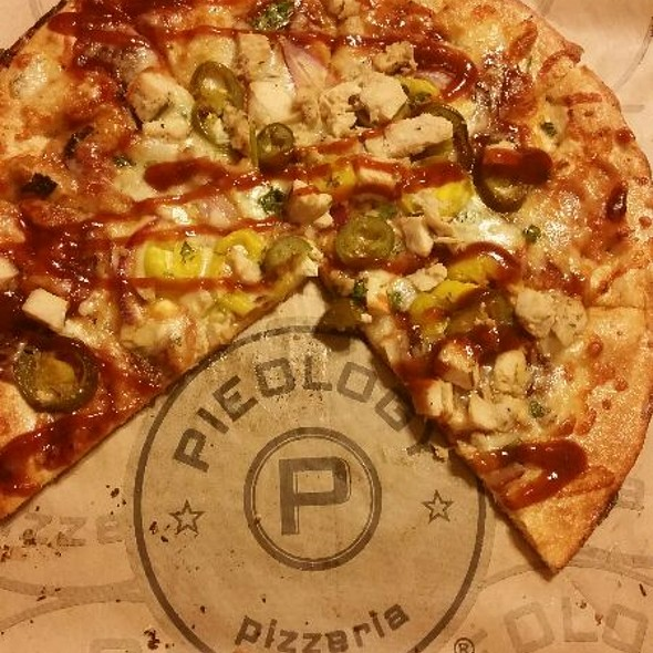 BBQ Chicken Pizza with Added Peppers @ Pieology