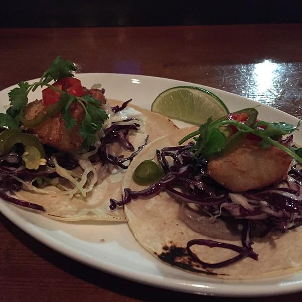 Beer Battered Fish Tacos @ Blue Dragon