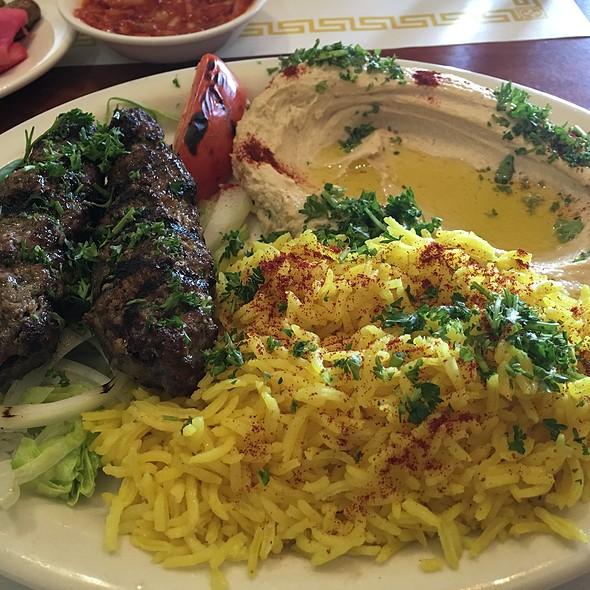 Lamb kabob with pilaf rice @ Old Jerusalem