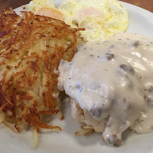 Biscuit And Gravy With Over Easy Egg @ Dennys