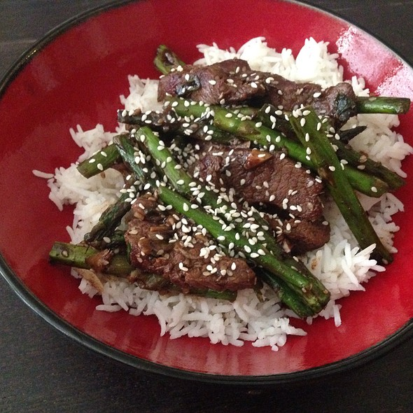 Garlic And Ginger Beef Stir Fry @ Home