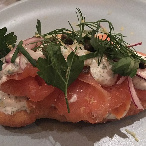 Smoked Salmon Fried Bread @ Covina