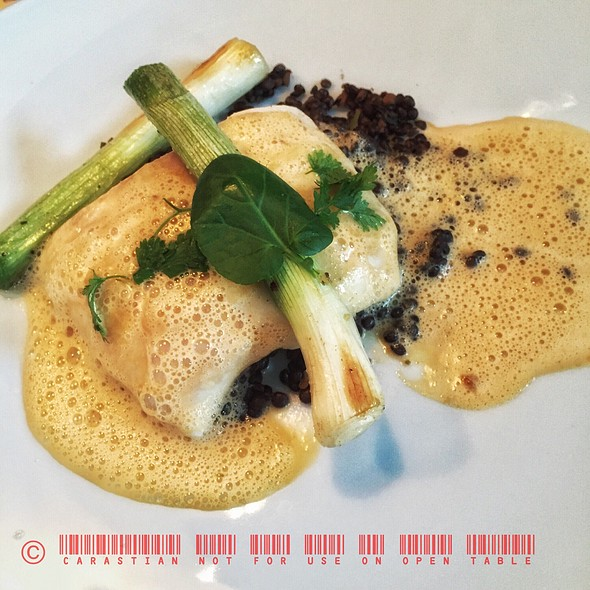 Catfish With Lobster Sauce And Lentils @ Michael´s Leitenberg