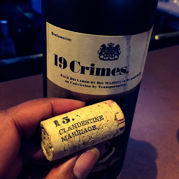 19 Crimes Cabernet Sauvignon @ Trust & Co.
