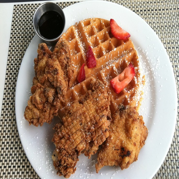 Chicken and Waffles @ K2