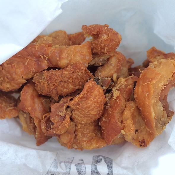 Fried Chicken Skins @ Nong's Khao Man Gai